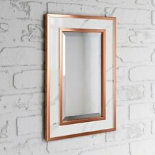 Stylish 450 x 300mm Melbourne Marble Copper Framed Mirror
