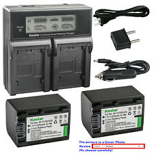 Kastar Battery LCD Dual Fast Charger for NP-FV70 Sony DCR-SX73 DCR-SX83 DCR-SX85