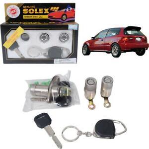 Fit 92-96 Honda Civic Eg 3 Door  Security Safety Flat Key Cylinder Door Lock