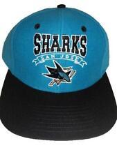 New San Jose Sharks Mens Size OSFA Snapback Flatbrim Throwback Vintage Hat