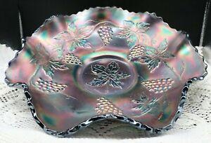"Fenton Carnival Glass ""Vintage"" Pattern 10 inch bowl"