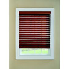 LEVOLOR 2-in 0185048 Walnut Faux Wood Blinds (65-in; Actual: 64.5-in x 72-in
