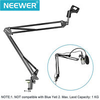 Neewer Microphone Suspension Boom Scissor Arm Stand NB-35 with Pop Filter Kit
