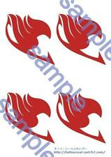 New Fairy Tail Natsu Cosplay Tattoo seal Sticker with English Directions F/S
