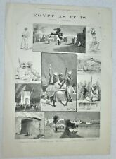 "Antique art print of Egyptian scenery--""Egypt as it is."""