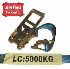 Beaver 5000kg 75mm x 9m Ratchet Strap Set Tie Down - Utes Trucks Load Restraint