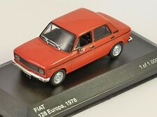 1978 FIAT 128 EUROPA in Red 1/43 scale model by Whitebox