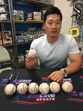 Seung-Hwan Oh St. Louis Cardinals 1st Career MLB Save Game Used Signed Baseball