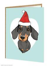 Dachshund Dog Lovers Christmas Xmas Greetings Card Brainbox Candy Cute Humour