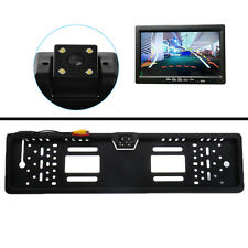 Waterproof 170° European Car License Plate Frame Rear View Camera Night Vision