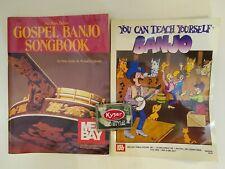Mel Bay Gospel Banjo Songbook & You Can Teach Yourself Banjo Book & Box of Picks