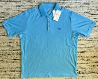 Tommy Bahama Mens Emfielder Polo Shirt 2XL DK Tile Supima T220856 Blue New