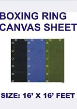 Boxing ring canvas sheet 16x16 feet in Black, Blue and Green