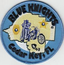 BLUE KNIGHTS CEDAR KEY FLORIDA FL POLICE MOTORCYCLE PATCH