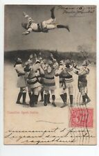 CANADA carte postale ancienne CANADIAN SPORTS SERIES Winter game