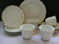 Fabulous 13 Piece Tea Set in Gold and White - England.