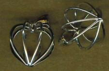 HEART CAGE (#12) STERLING SILVER PENDANT BAIL PS