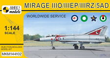 Mark I Models 1/144 Model Kit 144102 Dassault Mirage IIIO/EP/RZ/5AD 'Worldwide S