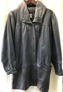 Vintage Black Heavy Leather Jacket By Leather Concessionaires Wested. Sz L