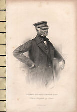 C1830 georgiano stampa ~ Generale Sir James Simpson