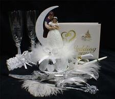 Disney Snow White & Prince  Wedding Cake Topper LOT Glasses knife book Fairytale