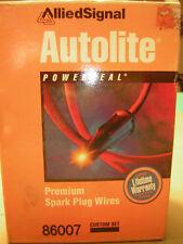 Autolite 8600 Premium Tow Motor Spark Plug  Wire set Ignition Wires Fast Shippig