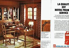 PUBLICITE ADVERTISING 116  1977   Mobilier de France (2p)  meubles bibliothéque