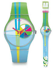 SWATCH Sarabi Reloj suow124 Análogo Silicona Verde, azul claro