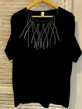Anvil Large Studded Black T-Shirt