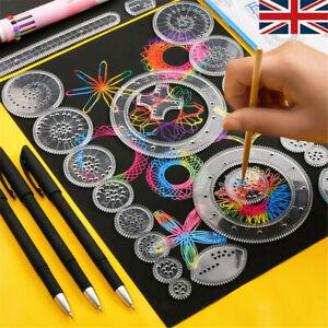 28 xTin Draw Drawing Art Original Spirograph Design Set Craft Create Kids Toy