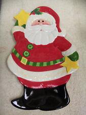 "Retired Fitz & Floyd Large Santa Platter ""Holiday Folk"" Collection"