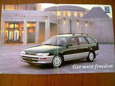 Toyota corolla wagon touring Brochure catalog 2 pieces Free shipping Japan