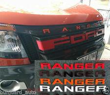 RED FRONT GRILL LOGO EMBLEM BADGE FOR FORD RANGER T6 PICKUP 2012 2013 2014 2015