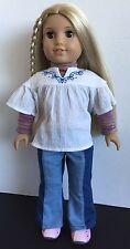 American Girl Doll Julie Albright 2008 Retired in Original Outfit