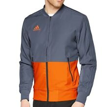 ORIGINAL adidas CONDIVO 18 CF4312 PRE TRACK JACKET. GREY & ORANGE, SMALL, NEW