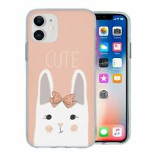 For Apple iPhone 11 Silicone Case Cute Bunny Rabbit - S169