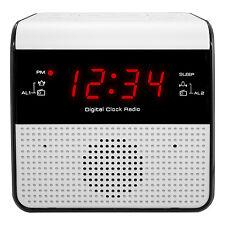 30118 Equity by La Crosse FM Clock Radio with Dual Alarm & USB Charging Port