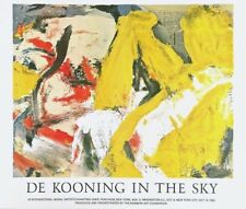 In the Sky 1982 Exhibition Poster on Wove Matte Finish Paper Willem de Kooning