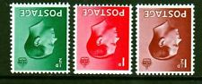 Edviii 1936 Definitive Set of 3 Wmk Inverted Full Perfs Sg457-459wi U/M Cat £20