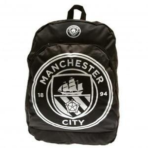 Manchester City Backpack Black Official Merchandise Kids School Bag Rucksack