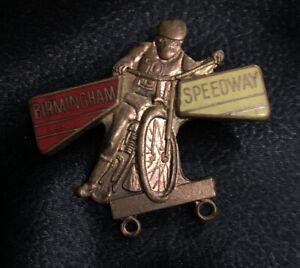 Vintage 1973 Birmingham Brummies Speedway Enamel Badge