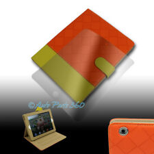 CASE COVER+SCREEN PROTECTOR POUCH PU LEATHER ORANGE/YELLOW IPAD 2ND 3RD 4TH GEN