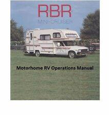 Rbr Mini Cruiser Motorhome Operations Manual for Toyota Rv Repair & Service