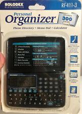 Rolodex Rf411-3 Personal Organizer -Phone Directory, Memo Pad, Calculator