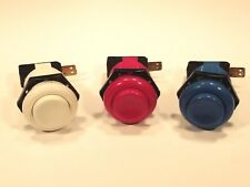 OEM --- HAPP Arcade Red/White/Blue Buttons with Micro Switch FREE SHIPPING :)