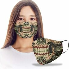 Sugar Skull Mexico The Dead Reusable Washable Mask Dust Protection Non-Medical