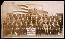 UKRAINIAN FREE COSSACKS OF LEMBERG IN NEW YORK SOCIETY GATHERING ca 1918 PHOTO