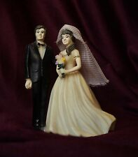 1940's Vtg Celluloid Doll Bride & Groom Decoration on a Wedding Cake Topper