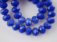 50pcs 10mm Faceted Rondelle Crystal Glass Loose Spacer Beads DIY Jewelry
