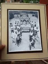 VINTAGE PHOTOGRAPH OF PROCESSION OF GOD MAHAVIR
